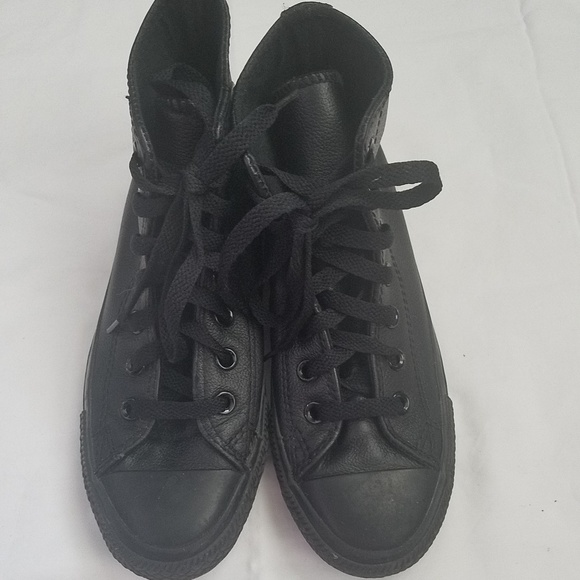 5f2101116e0 Converse Other - Boys Converse All Star size 3 Black Leather